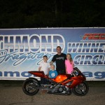 Kevin Johnson was the Motorcycle Runner up on 5./24