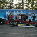 Junior Dragster runner up on Sunday, Shane Parker celebrates with his brother Jason