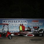 Nathaniel Yount wins the Gamblers Race for Saturday Night in the Team WFO Dragster over Nick Womack