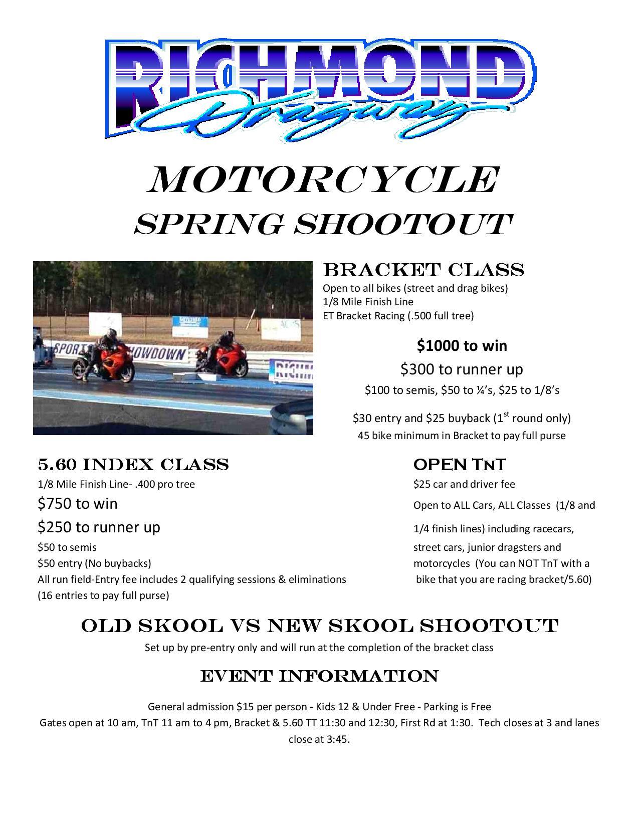 Spring Motorcycle Shootout – April 11th thumbnail