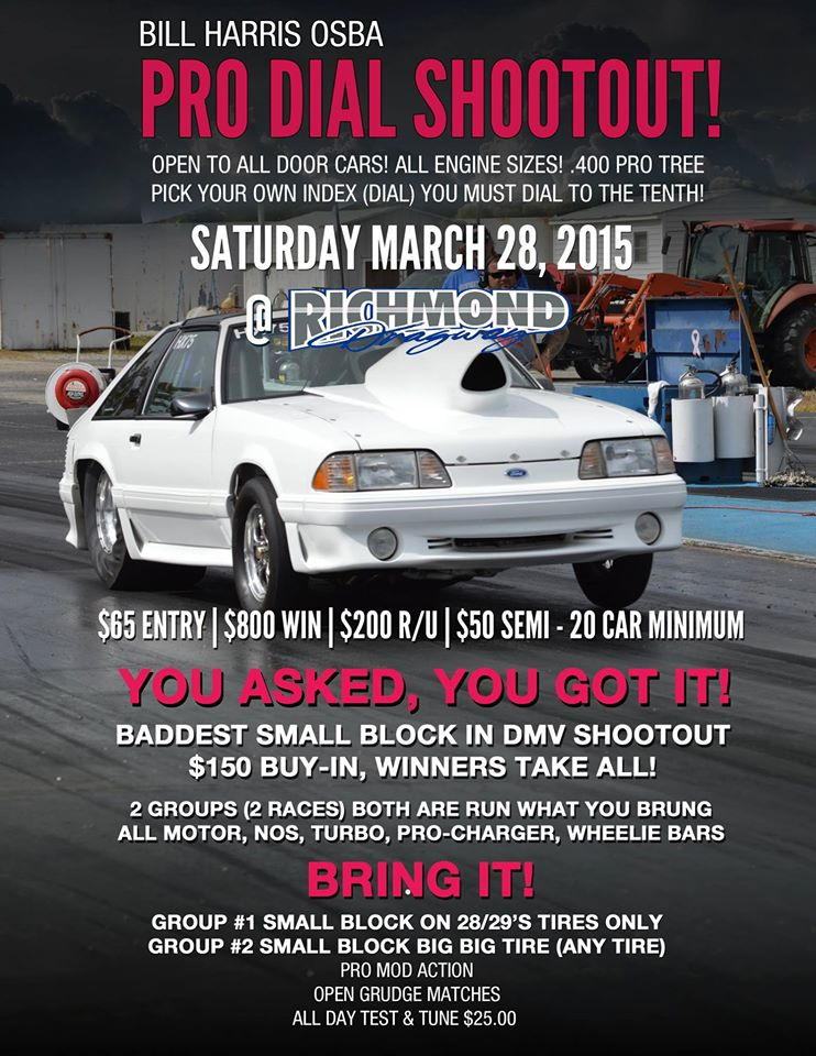 THIS WEEK: NOW ON SUNDAY:  Test & Tune (ALL CARS and BIKES) PLUS OSBA Pro Dial and OSBA Heads Up Racing! thumbnail