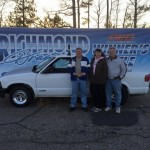 Willard Hammond took his Newtown Dragway S-10 to the winner's circle in Modified
