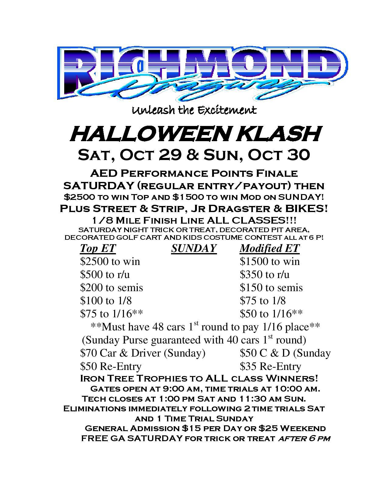 THIS WEEK: FINAL Vaperz Advantage Friday Nite Street Fights/TNT This Friday-Halloween Klash on Saturday and Sunday thumbnail